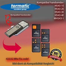 Tormatic kompatibler Handsender Klon für HS43-1E,HS43-2E,HS43-3E,HS43-4E,MHS43-1