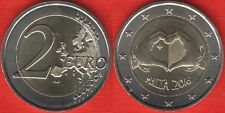 "Malta 2 euro 2016 ""Solidarity Through Love"" BiMetallic UNC"