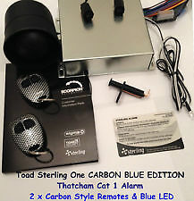 Thatcham Cat 1 alarm Immobiliser Insurance Approved Blue LED Carbon style FOB'S
