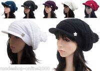 Long Beanie Mütze Wintermütze Wollmütze Damenmütze Schirmmütze Fleecemütze NEU
