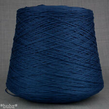 4 PLY ITALIAN TAPE YARN BIG 1,000g CONE 20 BALLS AIRFORCE BLUE CHAINETTE RIBBON