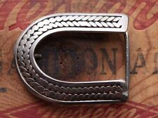 Vintage Stainless Steel Hand Made Lucky Horseshoe Western Belt Buckle