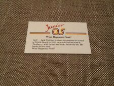 Jack Nicklaus Golf / Junior A Question of Sport game card 1990 #209