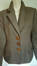Gianfranco Ferre Studio Womens Brown Wool Jacket Blazer Coat Top Italy Sz 42 12