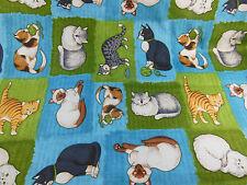 "Debbie Mumm cotton fabric Cat Pattern 2 8/9 yards [104""] X 42"" wide"