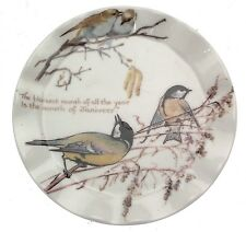 Country Diary of an Edwardian Lady Winter Month of January plate - small size