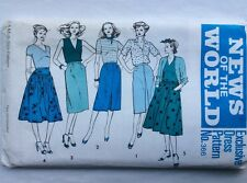News of the World 366 Vintage Uncut A-Line Skirt Pattern - Hips 33.5-34-36-38-40
