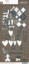 Studio Calico DARLING DEAR (58) VELLUM STICKER SHAPES scrapbooking HEARTS ARROWS