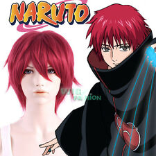 Naruto Akatsuki Sasori Short Straight Red Anime Cosplay Hair Wig