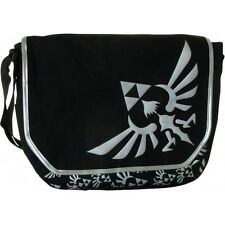 The Legend of Zelda TRIFORCE LOGO School MESSENGER BAG Black Crest Satchel Hot