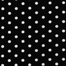 Robert Kaufman Pimatex Basics Dots Black Poplin Fabric Yard