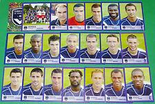 PANINI FOOTBALL FOOT 2006 GIRONDINS BORDEAUX  COMPLET FRANCE 2005-2006
