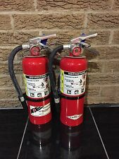 FIRE EXTINGUISHER 5LBS 5# ABC NEW CERT TAG LOT OF 2 NICE