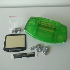 NEW Gameboy Advance GBA Clear Green Replacement Cover Case | Aussie + FREE POST