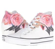 Converse Chuck Taylor Mid Wedge Sneaker White Pink Floral Platform All Star lux