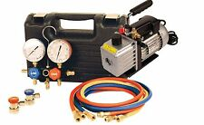 FJC 9270 Car A/C R134a Manifold Gauge Set & 5 cfm Vacuum Pump  Air Conditioning