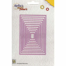 Nellie Snellen Multi Frame Die Cutting Stencil - Straight Rectangle MFD058 11pcs