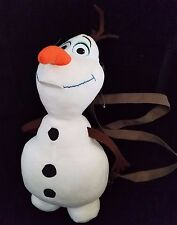 "Disney Frozen Olaf 18"" Plush Backpack White Snowman Adjustable"