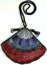Beaded Purse Clam Shell Oyster Seashell Art Deco Flapper Glam Hip Hop New Wave