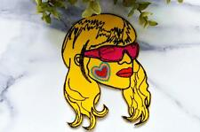 RETRO GIRL (Large Size) Roller Derby Skate 70's Chick Badge Iron on Patch Sew