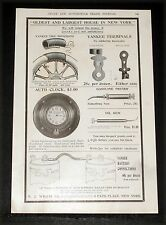1904 OLD MAGAZINE PRINT AD, EJ WILLIS AUTO SUPPLIES, LARGEST HOUSE IN NEW YORK!
