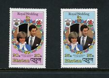 Bhutan 1981  #319-20  Charles Diana Royal Wedding SHORT-SET    2v.  MNH  I075