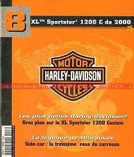 HARLEY DAVIDSON XL 1200 C Sportster Custom 2000 ; Les Side Car MOTO HD