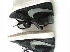 Nike blazer mid vintage enfants chaussures baskets taille 10 noir et gris