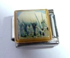 ORYX / Gazelle Deer Italian Charm - fits ALL 9mm Starter Bracelets Animals W95