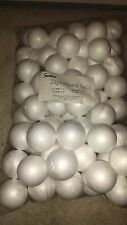 "(3) BAGS OF 72 STYROFOAM BALLS 2"" SCHOOL XMAS ARTS & CRAFTS SMOOTH POLYSTYRENE"