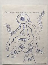 "DANIEL JOHNSTON -""Crushed "" Original - Outsider"