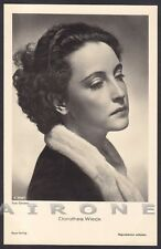DOROTHEA WIECK 05 ATTRICE ACTRESS SCHAUSPIELERIN CINEMA MOVIE STAR Cartolina FOT