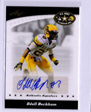 2011 Leaf Army All-American Odell Beckham Jr. AUTO RC NY Giants LSU Tigers