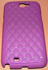 Amzer Snap on Crystal Hard Case Galaxy Note II, Purple w embedded Diamante