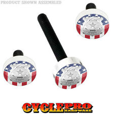 Windshield Bolt Kit for 14-Up Harley Electra & Street POLICE BADGE USA FLAG 169