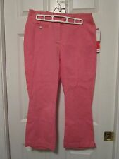 LIZ CLAIRBORNE CRAZY HORSE PINK CAPRI CROP PANTS SIZE 6 STRETCH NEW WITH TAGS
