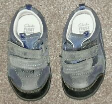 Baby boys blue Clarks first shoes - 4G