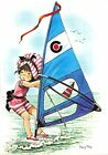 BF38389 mary may painting girl windsurf bateaux ship sportif sports