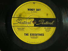 "EXECUTIVES WINDY DAY / THIS TOWN FESTIVAL orig OZ GARAGE PSYCH 7"" 45 HEAR"