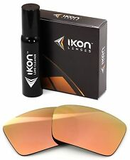 Polarized IKON Iridium Replacement Lenses For Oakley Oil Drum Rose Gold Mirror