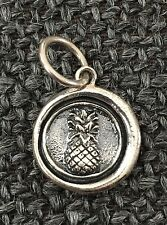 New Waxing Poetic Sterling Silver 925 Pineapple Charm - Whimsies - Box & Bag