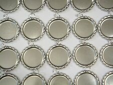200 Flat Bottle Caps with 8mm Split Rings