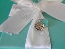 "TIFFANY & CO ""RETURN TO TIFFANY"" MINI HEART NECKLACE 18""! BRAND NEW! STERLING!"