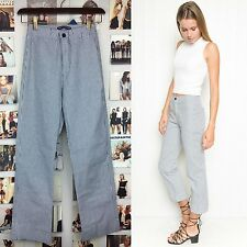 Last! brandy melville high Rise Blue white striped tilden elasticize pants NWT