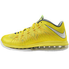 Nike Air Max Lebron X Low Sonic Yellow Mens 579765-700 Basketball Shoes Size 9