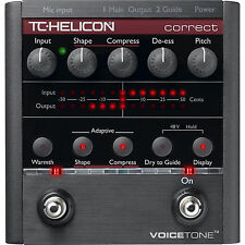 TC HELICON VOICETONE CORRECT VOCAL EFFECTS PROCESSOR PEDAL PITCH