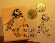 P92 Puffin bird rubber stamp