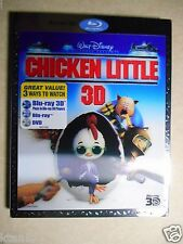 Chicken Little (Blu-ray/DVD, 2011, 3-Disc Set, 3D) W/Lenticular Slipcover