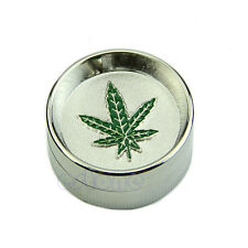 Fashion Leaf 2 PART Metal Manual Herb Grinder Crusher Screen Tobacco Mill Newest