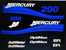 Mercury outboard decals Optimax EFI Saltwater Outboard 25 - 250 HP  Marine Viny